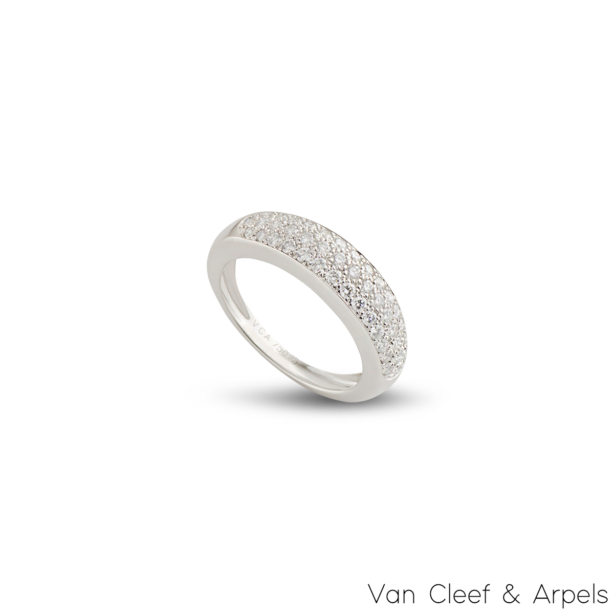 Van Cleef & Arpels White Gold Diamond Ring 0.56ct F/VS+